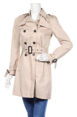 Дамски шлифер Zara, Размер S, Цвят Бежов, Памук, Цена 24,60лв.