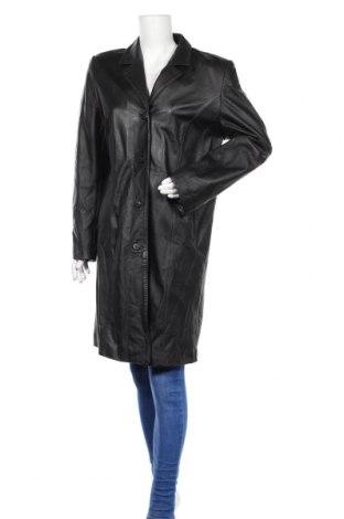 Дамско кожено палто, Размер XL, Цвят Черен, Естествена кожа, Цена 18,32лв.