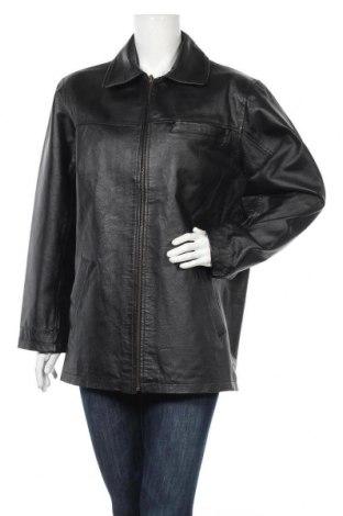 Дамско кожено яке, Размер L, Цвят Черен, Естествена кожа, Цена 15,62лв.