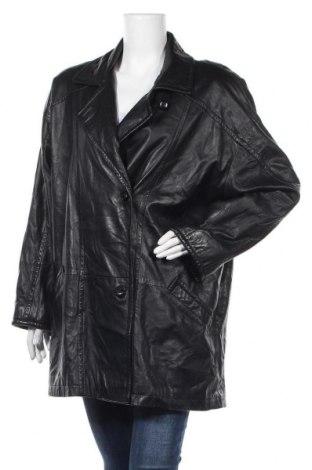 Дамско кожено яке, Размер L, Цвят Черен, Естествена кожа, Цена 11,34лв.