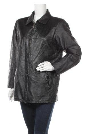 Дамско кожено яке, Размер M, Цвят Черен, Естествена кожа, Цена 20,48лв.