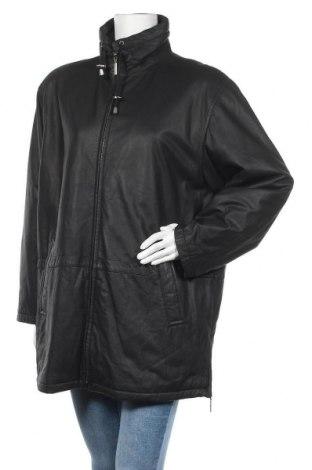 Дамско кожено яке, Размер L, Цвят Черен, Естествена кожа, Цена 21,53лв.