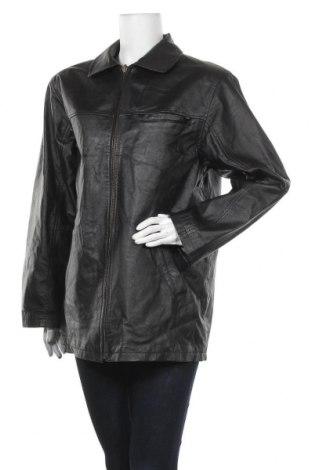 Γυναικείο δερμάτινο μπουφάν, Μέγεθος XL, Χρώμα Μαύρο, Γνήσιο δέρμα, Τιμή 19,22€