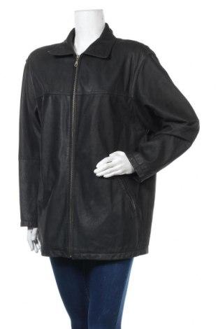 Дамско кожено яке, Размер XL, Цвят Черен, Естествена кожа, Цена 47,25лв.
