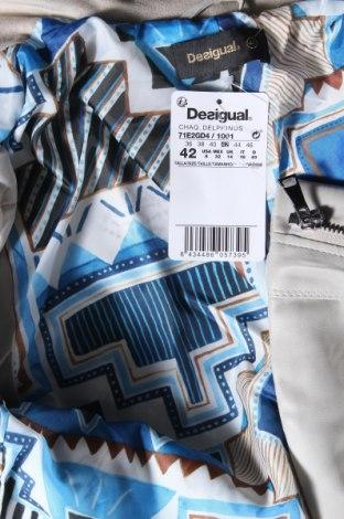 Дамско кожено яке Desigual, Размер L, Цвят Бежов, Еко кожа, Цена 83,65лв.
