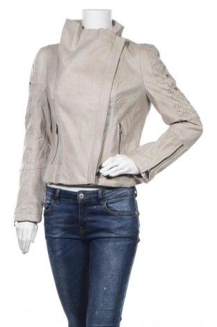 Дамско кожено яке Desigual, Размер M, Цвят Бежов, Еко кожа, Цена 83,65лв.