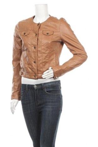 Дамско кожено яке Flame, Размер S, Цвят Кафяв, Еко кожа, Цена 17,96лв.