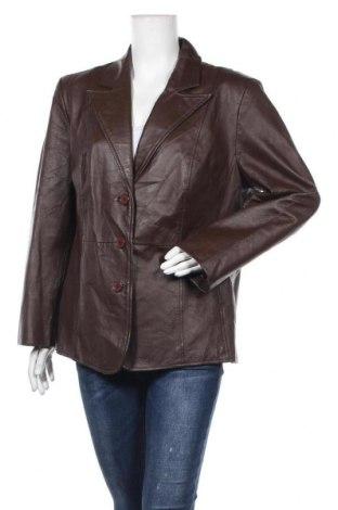 Дамско кожено яке New Directions, Размер XL, Цвят Кафяв, Естествена кожа, Цена 24,89лв.