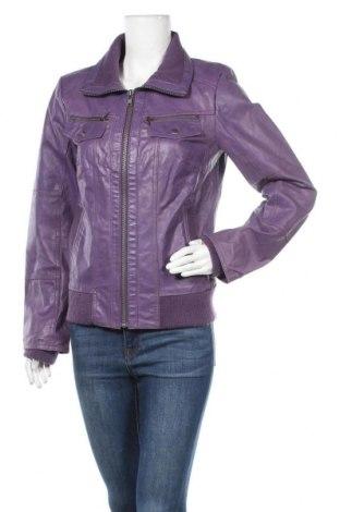 Дамско кожено яке ONLY, Размер L, Цвят Лилав, Естествена кожа, Цена 44,98лв.
