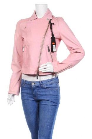 Дамско кожено яке Pinko, Размер M, Цвят Розов, Естествена кожа, Цена 234,72лв.