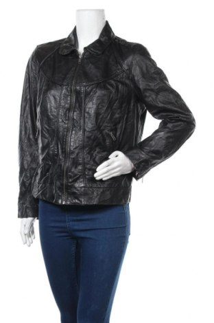 Дамско кожено яке Soft Grey, Размер L, Цвят Черен, Естествена кожа, Цена 20,48лв.