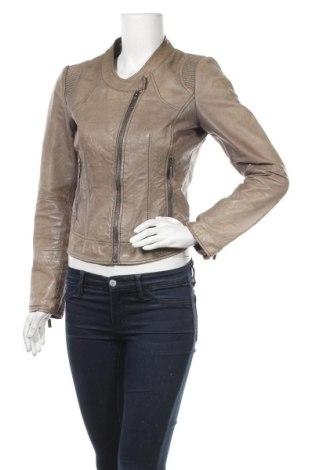 Дамско кожено яке Steps, Размер XS, Цвят Бежов, Еко кожа, Цена 17,96лв.
