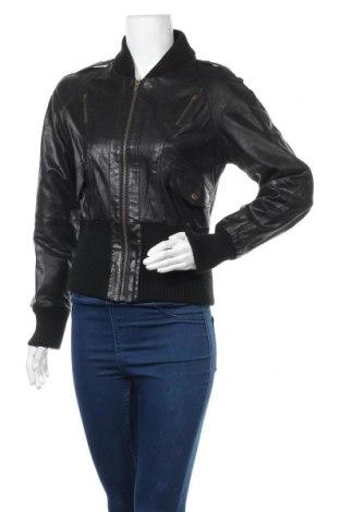 Γυναικείο δερμάτινο μπουφάν Vero Moda, Μέγεθος S, Χρώμα Μαύρο, Γνήσιο δέρμα, Τιμή 17,73€