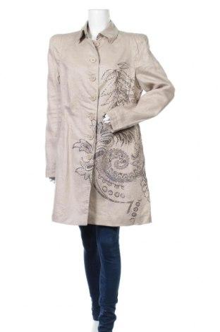 Дамско палто Bandolera, Размер L, Цвят Бежов, 100% лен, Цена 74,81лв.