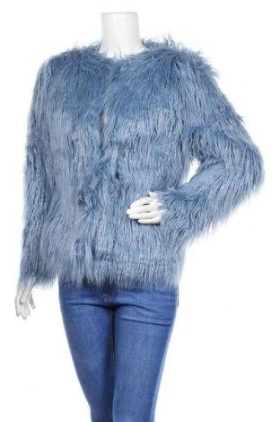 Дамско палто Boohoo, Размер S, Цвят Син, 80% модал, 20% акрил, Цена 16,91лв.