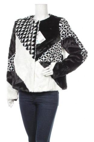 Дамско палто Desigual, Размер L, Цвят Черен, 60% акрил, 40% полиестер, Цена 129,12лв.