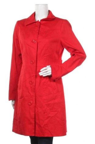 Дамско палто H&M, Размер L, Цвят Червен, 98% памук, 2% еластан, Цена 45,89лв.