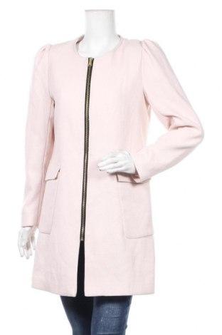 Дамско палто H&M, Размер L, Цвят Розов, 64% полиестер, 34% вискоза, 2% еластан, Цена 27,72лв.