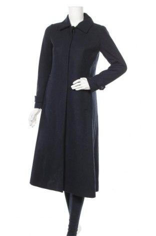 Дамско палто In Wear, Размер XXS, Цвят Син, 52% вълна, 34% полиестер, 4% полиамид, 1% вискоза, Цена 92,12лв.