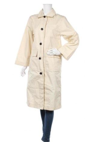 Дамско палто Monki, Размер XS, Цвят Бежов, 73% памук, 27% полиамид, Цена 61,50лв.