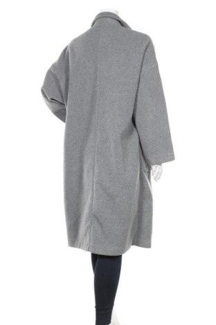 Дамско палто Zara, Размер L, Цвят Сив, Полиестер, Цена 64,08лв.