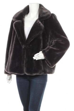 Дамско палто Zara Trafaluc, Размер L, Цвят Черен, Акрил, Цена 72,55лв.