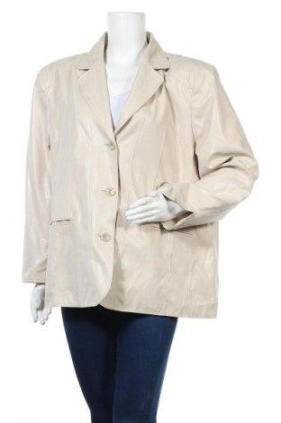 Дамско сако, Размер XXL, Цвят Бежов, 18% полиамид, 82% полиестер, Цена 6,30лв.