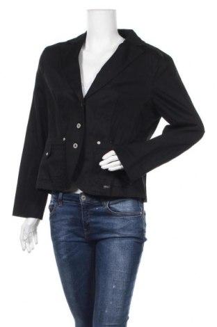 Дамско сако, Размер L, Цвят Черен, 98% памук, 2% еластан, Цена 10,66лв.