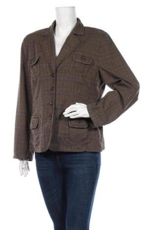 Дамско сако, Размер L, Цвят Кафяв, 65% полиестер, 32% вискоза, 3% еластан, Цена 15,03лв.