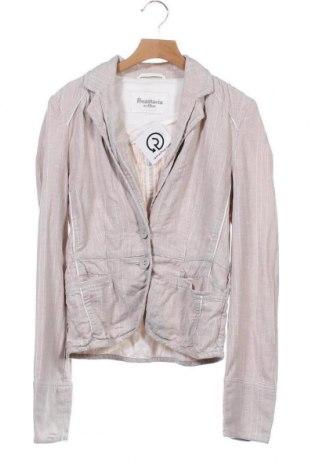 Дамско сако Anastacia By S.Oliver, Размер XS, Цвят Бежов, 55% лен, 44% памук, 1% метални нишки, Цена 4,04лв.