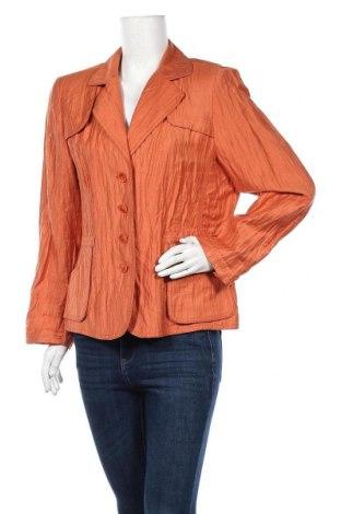 Дамско сако Chicco, Размер L, Цвят Оранжев, 44% вискоза, 44% лен, 12% полиамид, Цена 5,88лв.