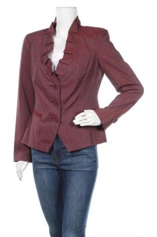 Дамско сако Danini, Размер M, Цвят Червен, 55% вискоза, 20% памук, 11% вълна, 1% еластан, Цена 18,01лв.
