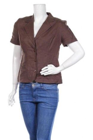 Дамско сако Dresses Unlimited, Размер S, Цвят Кафяв, Лен, Цена 7,35лв.