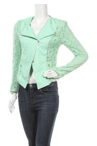 Дамско сако Drole De Copine, Размер M, Цвят Зелен, Еко кожа, вискоза, Цена 13,65лв.