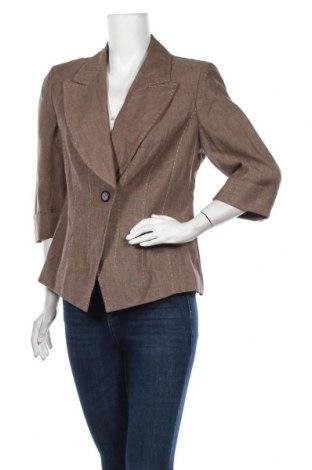 Дамско сако Elegance, Размер L, Цвят Бежов, Лен, Цена 8,66лв.