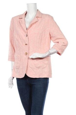 Дамско сако Fair Lady, Размер L, Цвят Розов, 55% полиестер, 41% вискоза, 4% еластан, Цена 15,02лв.
