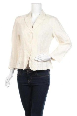 Дамско сако Franco Callegari, Размер M, Цвят Бежов, 100% лен, Цена 8,14лв.