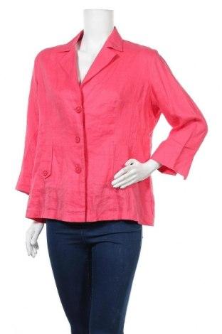 Дамско сако Franco Callegari, Размер XL, Цвят Розов, Лен, Цена 6,30лв.