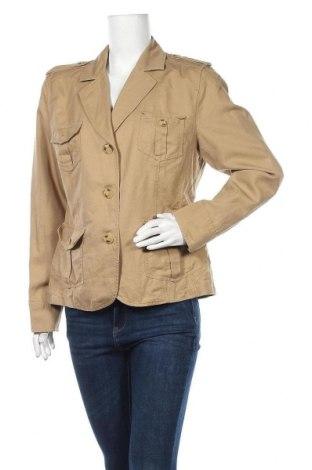Дамско сако G.W., Размер L, Цвят Бежов, 55% лен, 45% памук, Цена 11,03лв.
