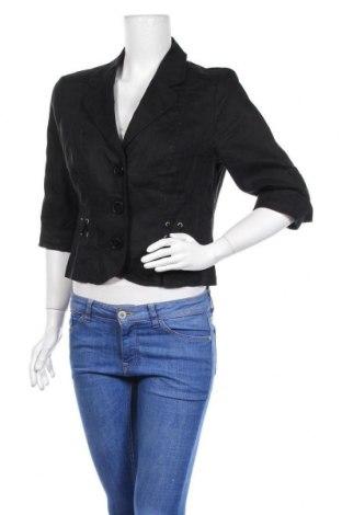Γυναικείο σακάκι G.W., Μέγεθος L, Χρώμα Μαύρο, Λινό, Τιμή 8,64€