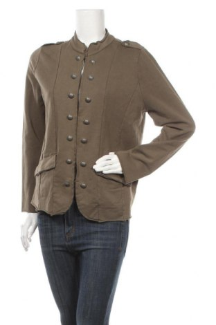 Дамско сако Gina, Размер XL, Цвят Зелен, 89% памук, 11% еластан, Цена 9,66лв.
