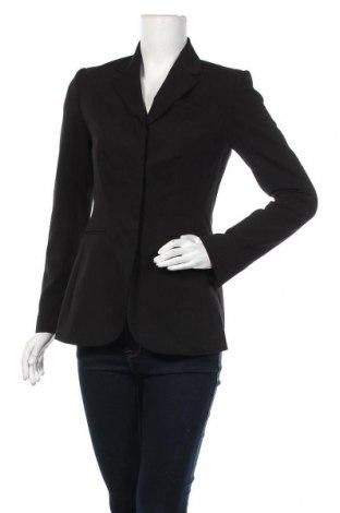 Дамско сако H&M, Размер S, Цвят Черен, 62% полиестер, 32% вискоза, 6% еластан, Цена 13,10лв.