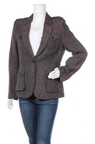 Дамско сако H&M, Размер L, Цвят Сив, Лен, Цена 30,35лв.