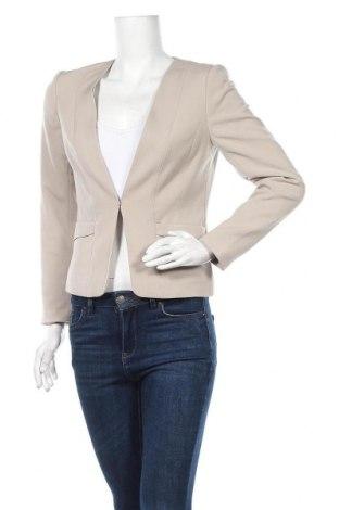 Дамско сако H&M, Размер M, Цвят Бежов, 63% полиестер, 33% вискоза, 4% еластан, Цена 12,60лв.