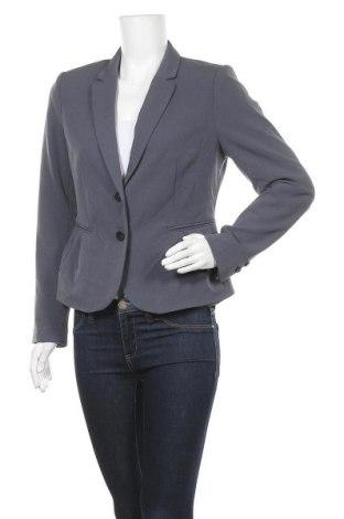 Дамско сако H&M, Размер L, Цвят Сив, 63% полиестер, 33% вискоза, 4% еластан, Цена 17,75лв.