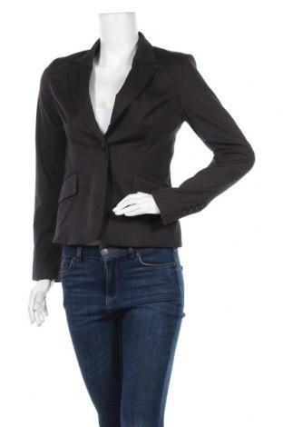 Дамско сако H&M, Размер XS, Цвят Черен, 82% памук, 16% полиамид, 2% еластан, Цена 21,26лв.