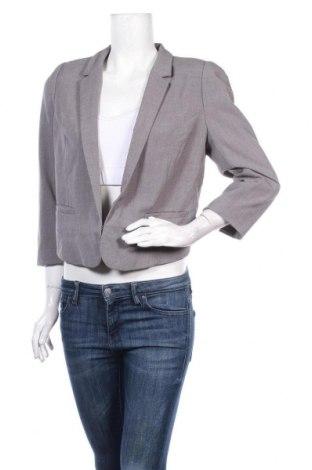 Дамско сако H&M, Размер XL, Цвят Сив, 66% полиестер, 30% вискоза, 4% еластан, Цена 16,38лв.