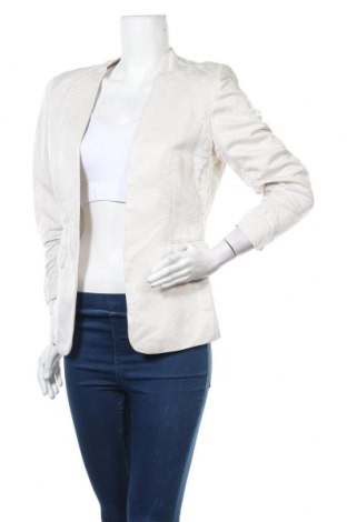Дамско сако H&M, Размер L, Цвят Бежов, 55% вискоза, 45% лен, Цена 25,52лв.