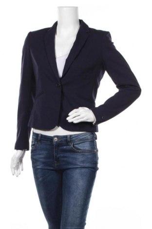 Дамско сако H&M, Размер M, Цвят Син, 63% полиестер, 33% вискоза, 4% еластан, Цена 15,03лв.