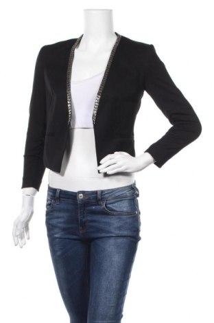 Дамско сако H&M, Размер XS, Цвят Черен, 67% полиестер, 30% вискоза, 3% еластан, Цена 11,76лв.